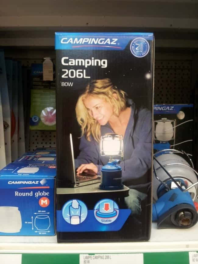 Epic Fail Design Choices camping light