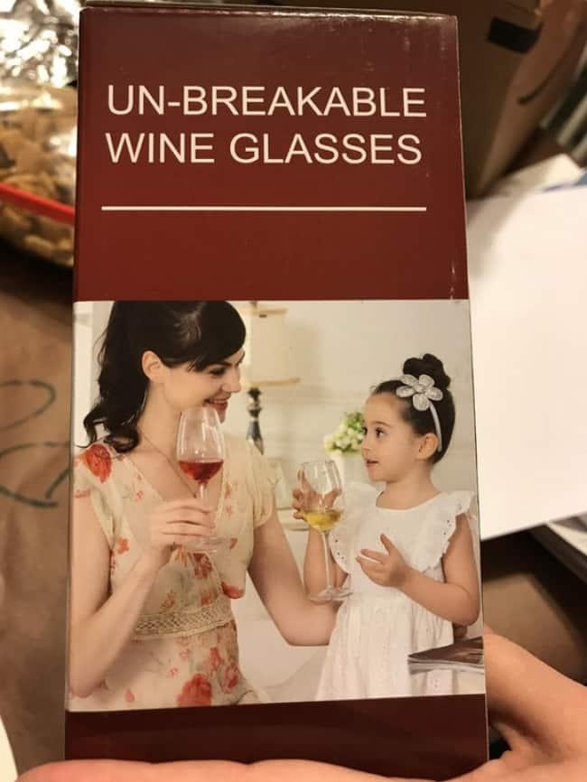 Epic Fail Design Choices wine glasses