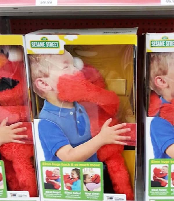 Epic Toy Design Fails elmo hug