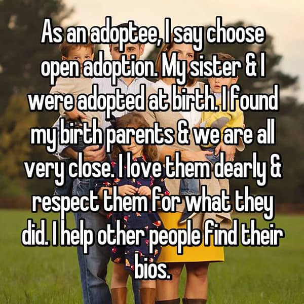 Experiences With Open Adoption help other people