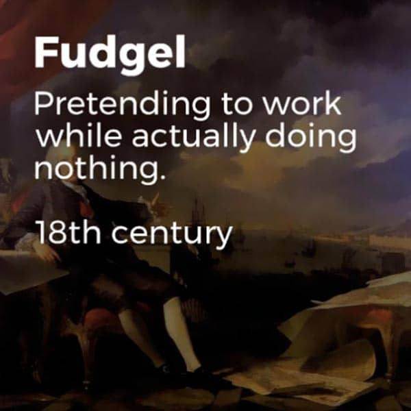 Forgotten English Words fudgel