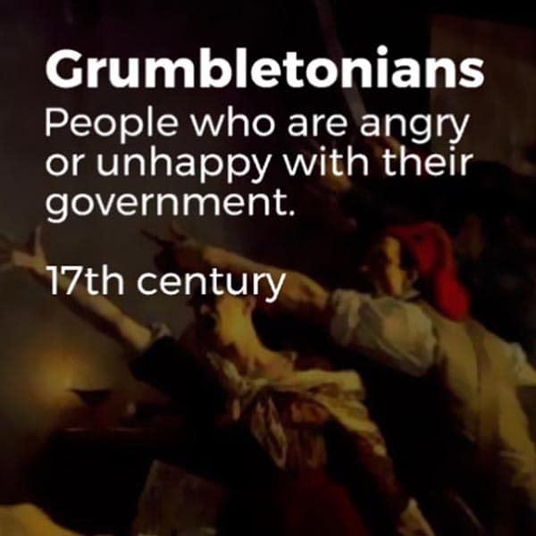 Forgotten English Words grumbletonians
