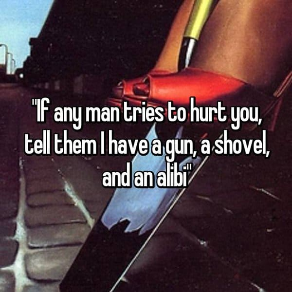 Funny Pieces Of Advice From Dads gun shovel alibi