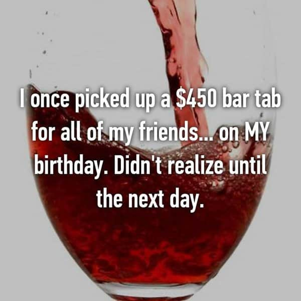 Funny Things That Drunk People Bought bar tab