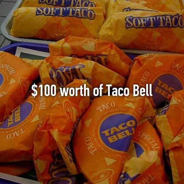 Funny Things That Drunk People Bought taco bell