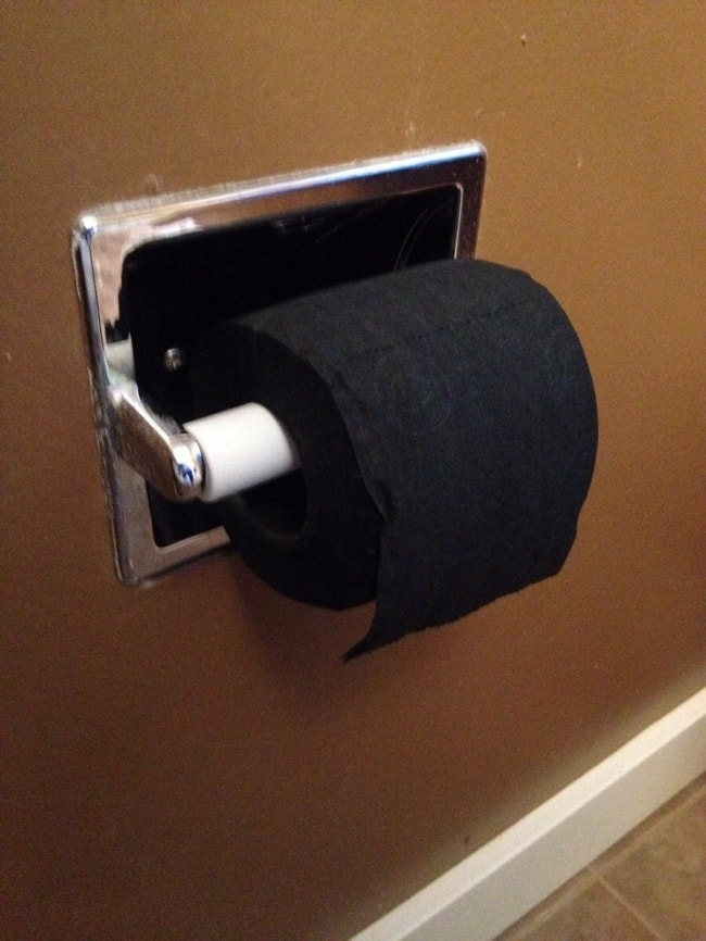 Images That Will Make You Feel Uncomfortable black toilet paper