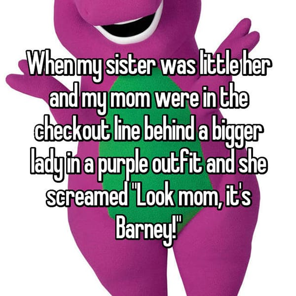 Kids Saying Funny Things its barney