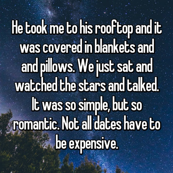 Memorable Romantic Dates rooftop stars