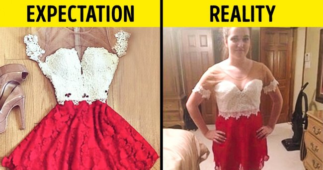 People Regretted Shopping Online red and white dress