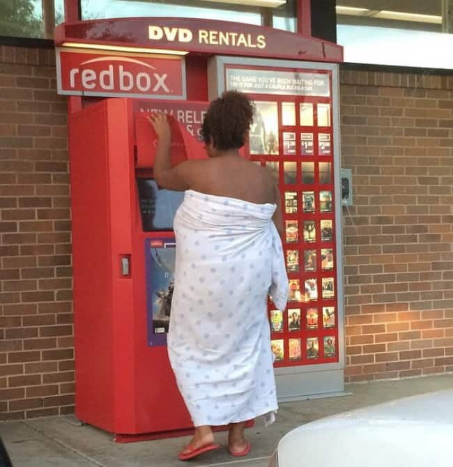 People Who Clearly Do Not Give A Damn redbox lady