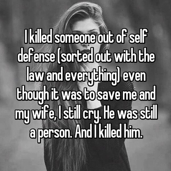 People Who Have Killed Someone he was a person