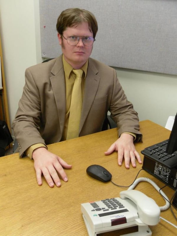 Realistic Transformations cosplay dwight schrute