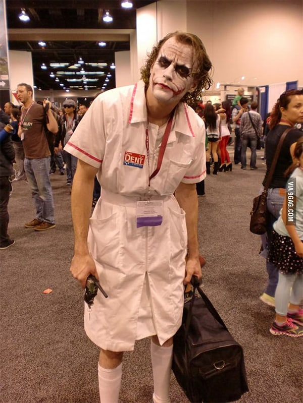 Realistic Transformations cosplay nurse joker