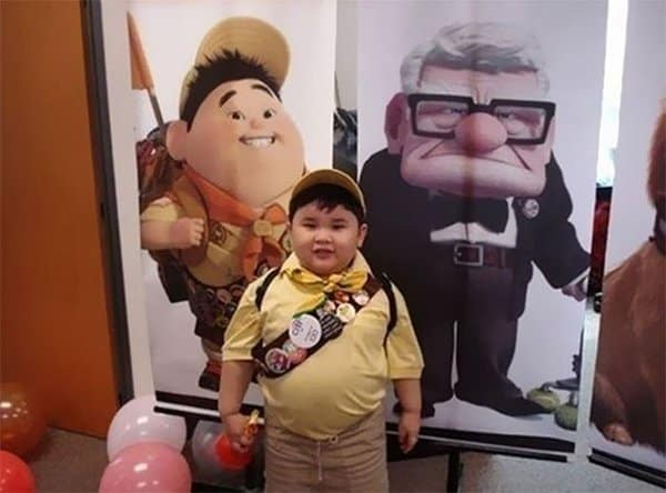 Realistic Transformations cosplay russel from up