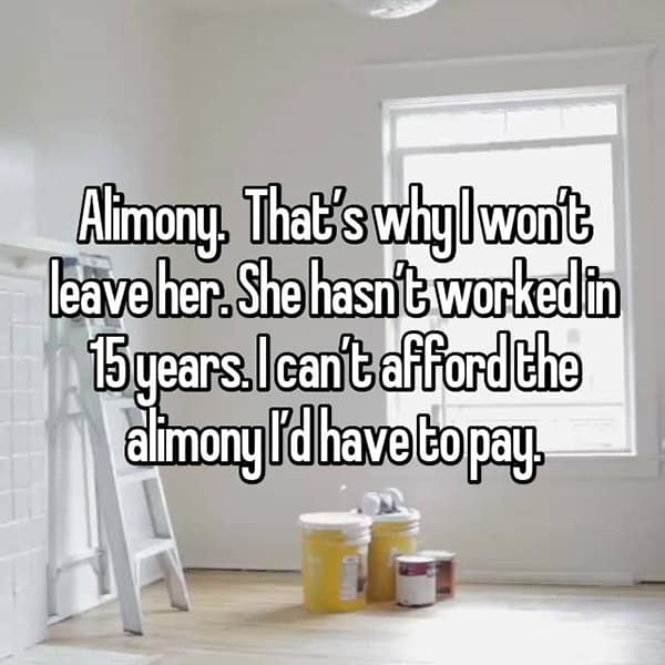 Reasons Men Stay In Unhappy Marriages alimony