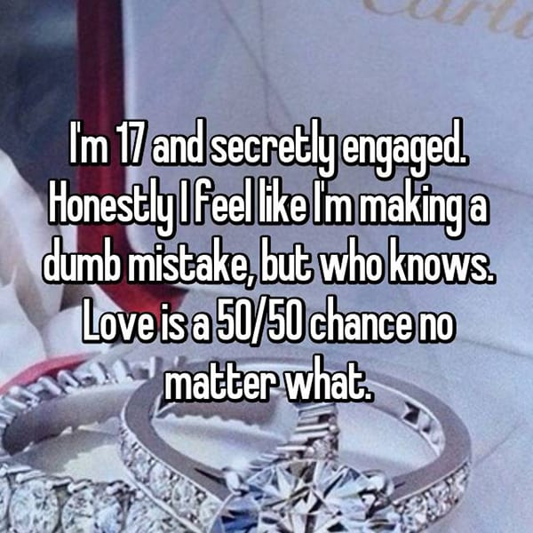 Reasons That People Are Secretly Engaged dumb mistake