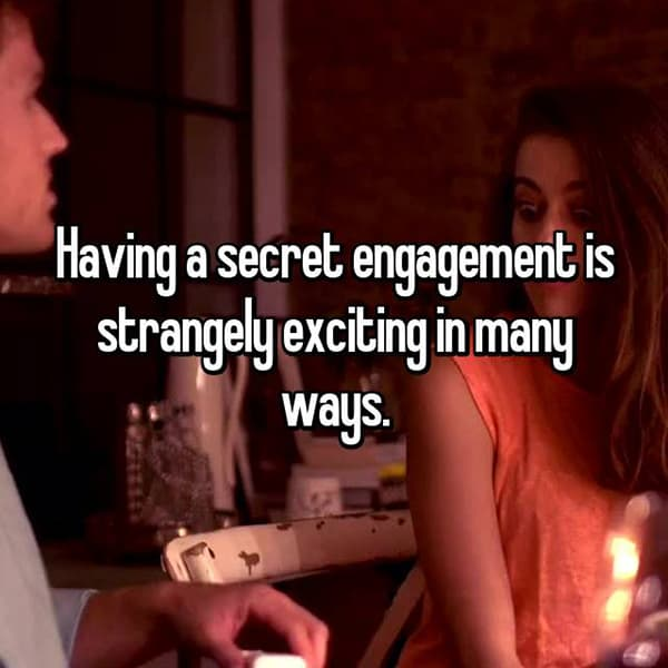 Reasons That People Are Secretly Engaged exiting