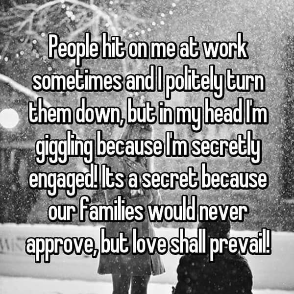 Reasons That People Are Secretly Engaged love shall prevail