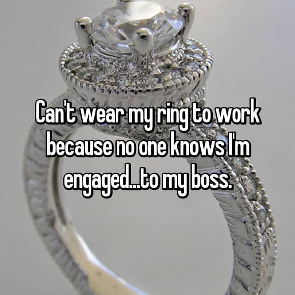 Reasons That People Are Secretly Engaged my boss
