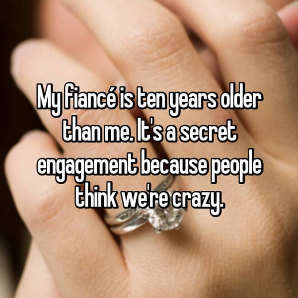Reasons That People Are Secretly Engaged ten years older