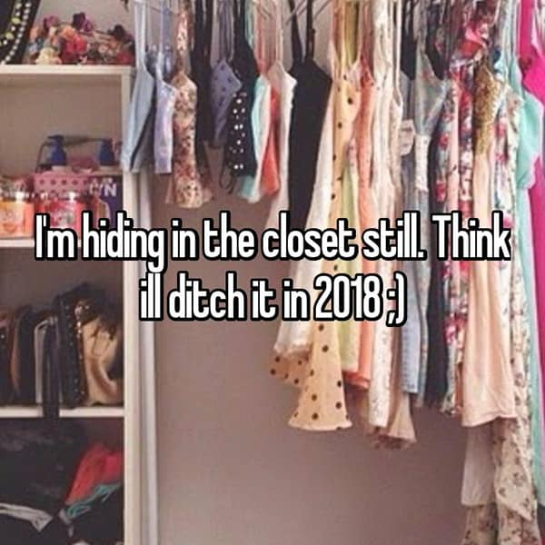 Resolutions For The Year 2018 hiding in the closet