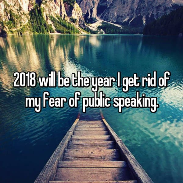 Resolutions For The Year 2018 public speaking