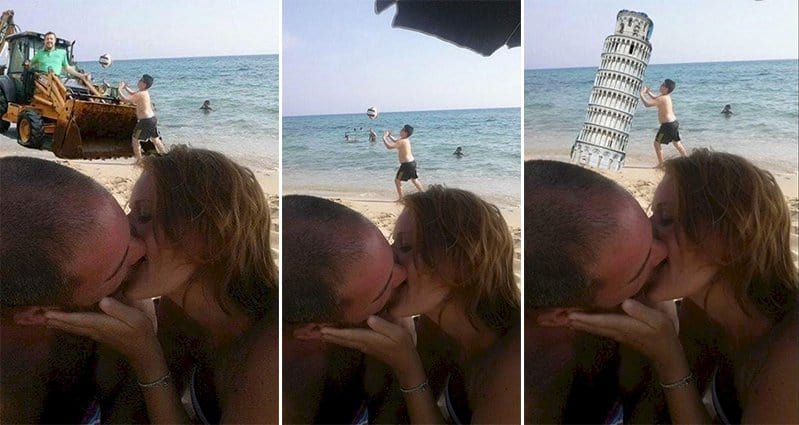 See What Happened When This Couple Asked The Internet To Photoshop Their Vacation Photo