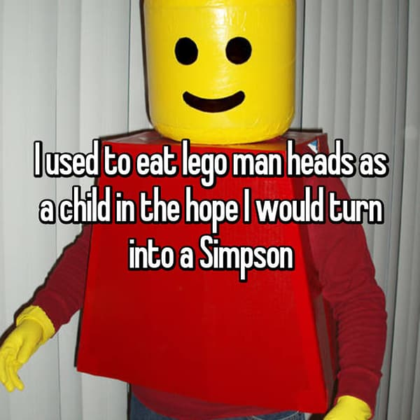 Strange Things They Ate As Children lego heads