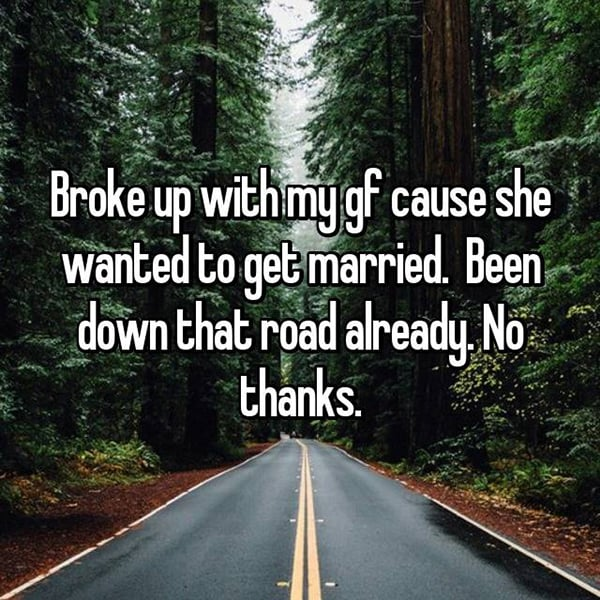 Talks Of Marriage Ruined Relationships been down that road