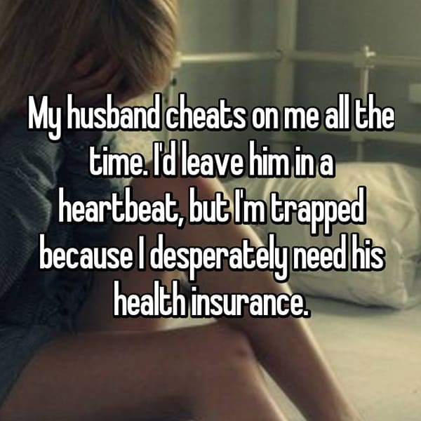 Women Stay With Their Husbands Unhappy health insurance