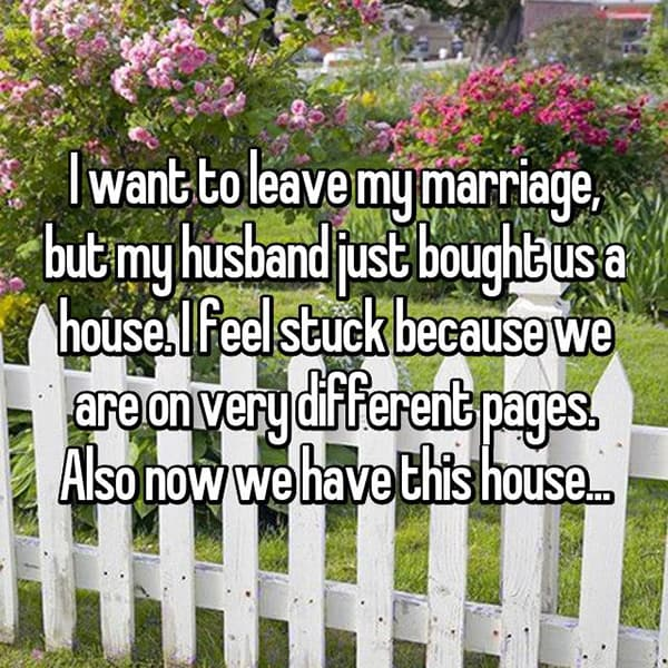 Women Stay With Their Husbands Unhappy house
