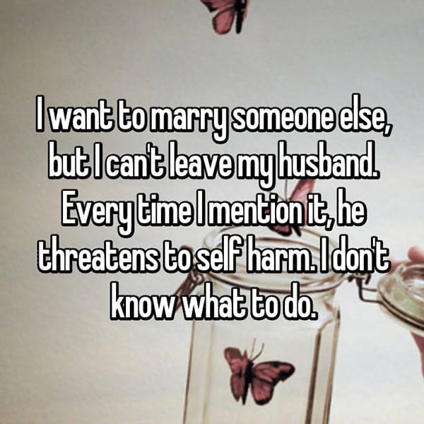 Women Stay With Their Husbands Unhappy self harm