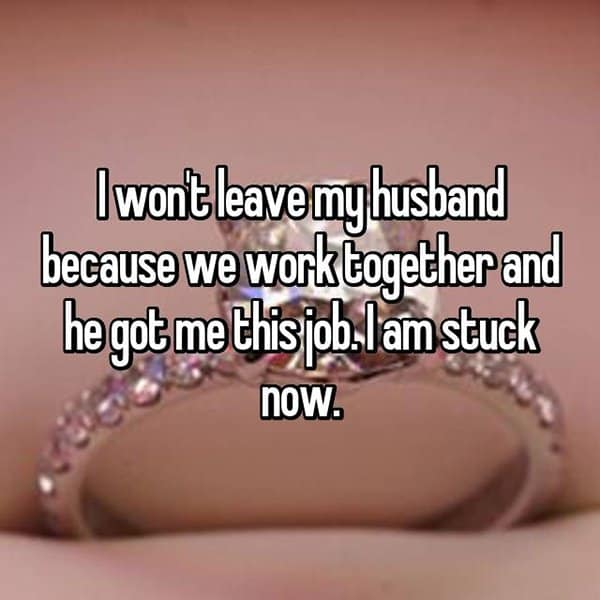Women Stay With Their Husbands Unhappy stuck now