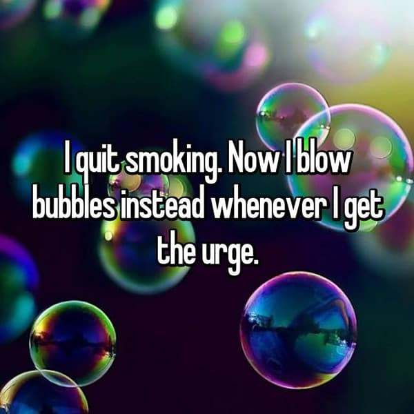 how-to-handle-smoking-cravings blow bubbles