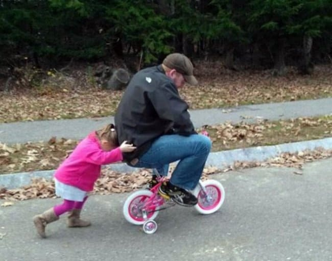 teaching_dad_how_to_ride_bike