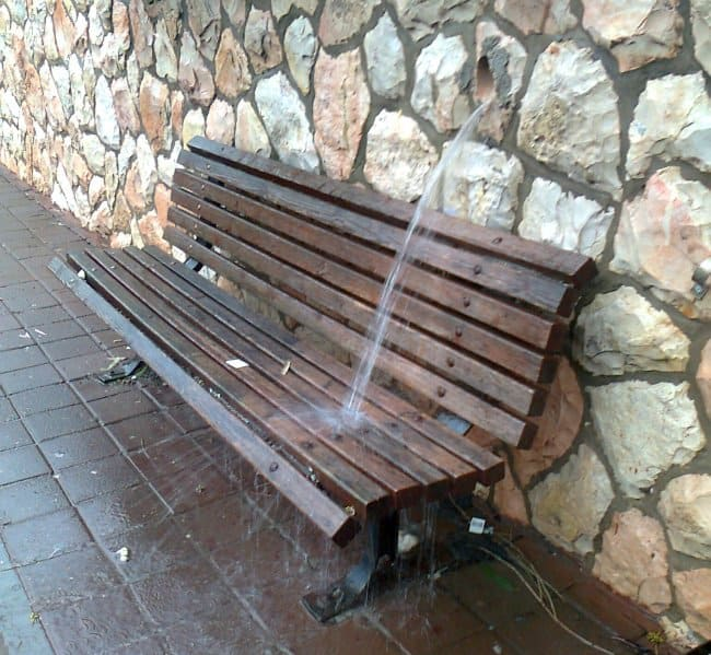 bench-shower