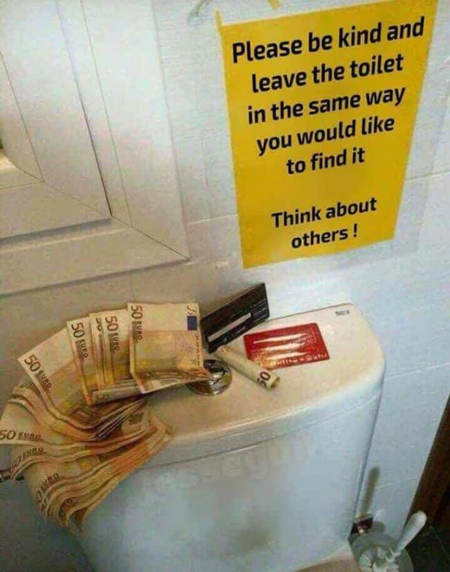 money-on-toilet