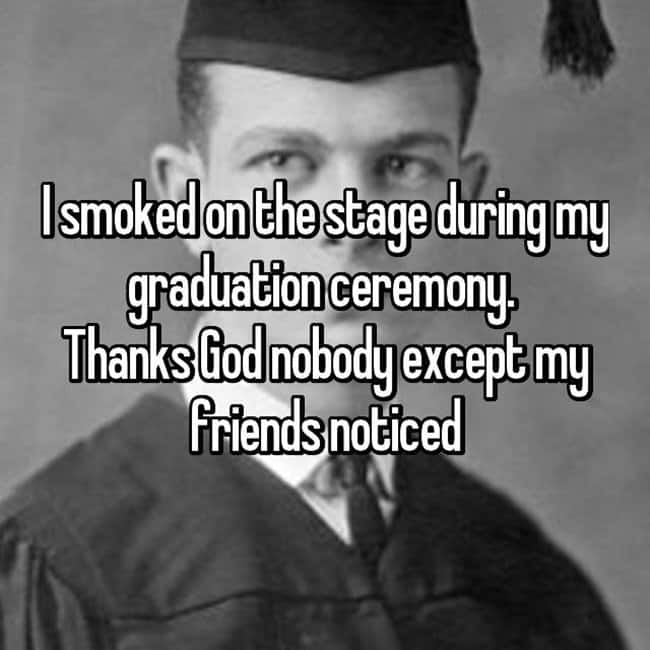 smoking-on-graduation
