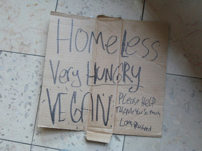 homeless-vegan