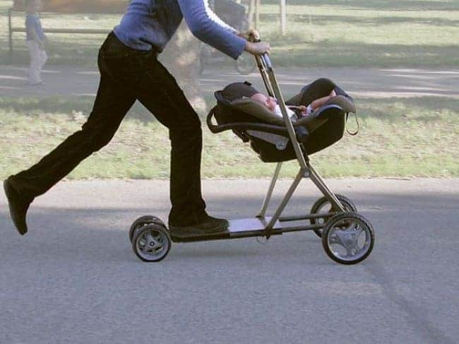 baby-carriage-and-scooter