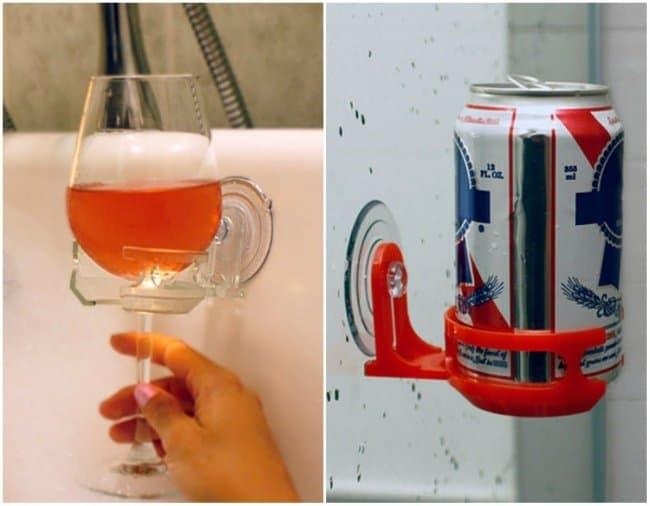 bathtub glass holder