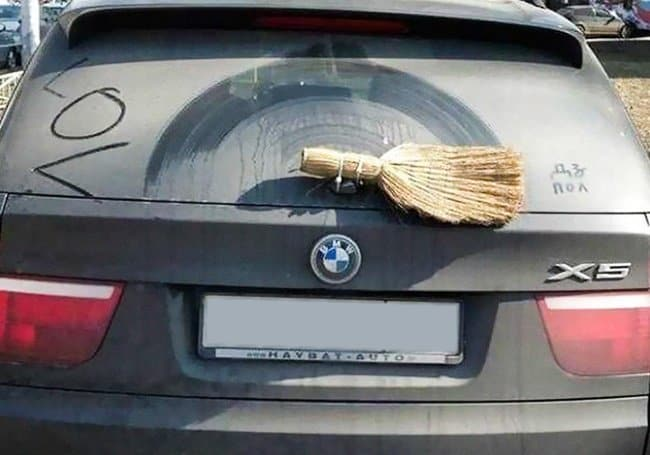 broom-as-a-car-wiper
