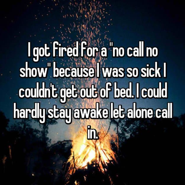 could_not_get_out_of_bed_no_call_no_show_at_work