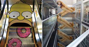 creative escalator ads