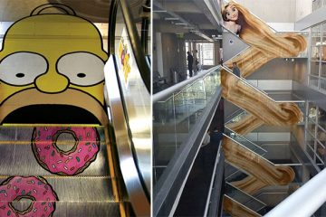 creative escalator ads