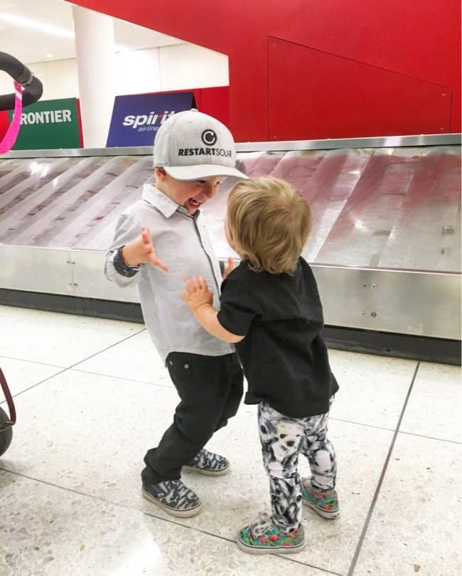 cute-laughing-little-boys-at-the-airport