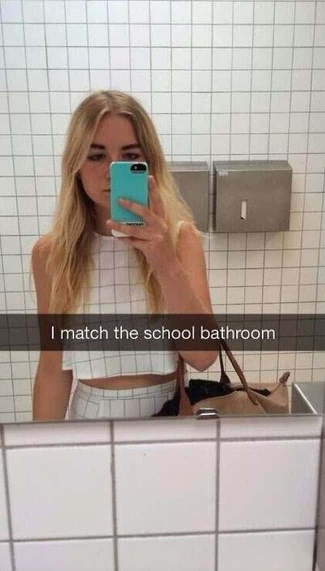 dress_matches_bathroom_tiles