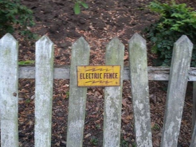electric fence to fool others