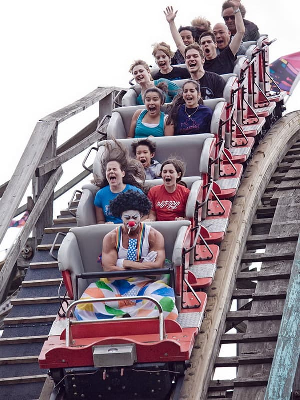grumpy-clown-on-a-roller-coaster