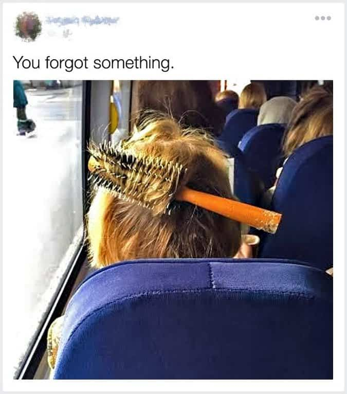 hairbrush-stuck-to-the-head